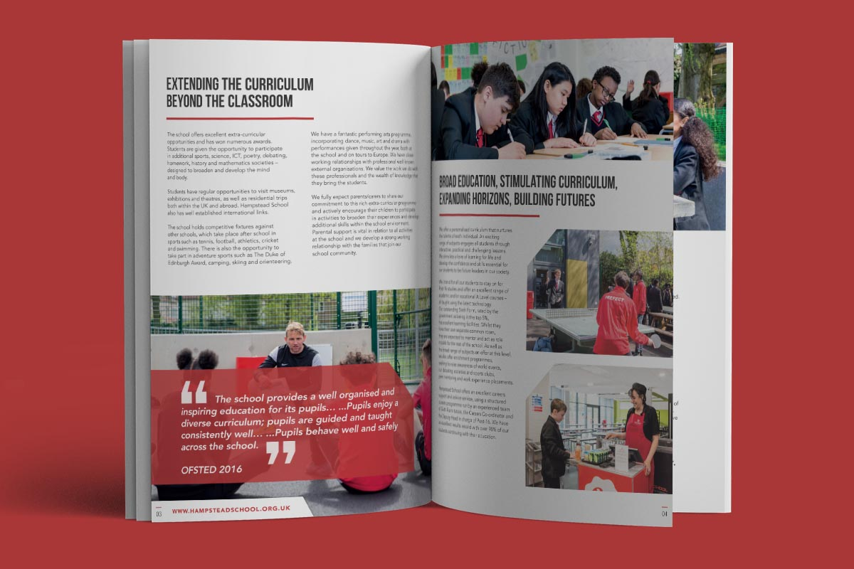 hampstead school prospectus inner pages